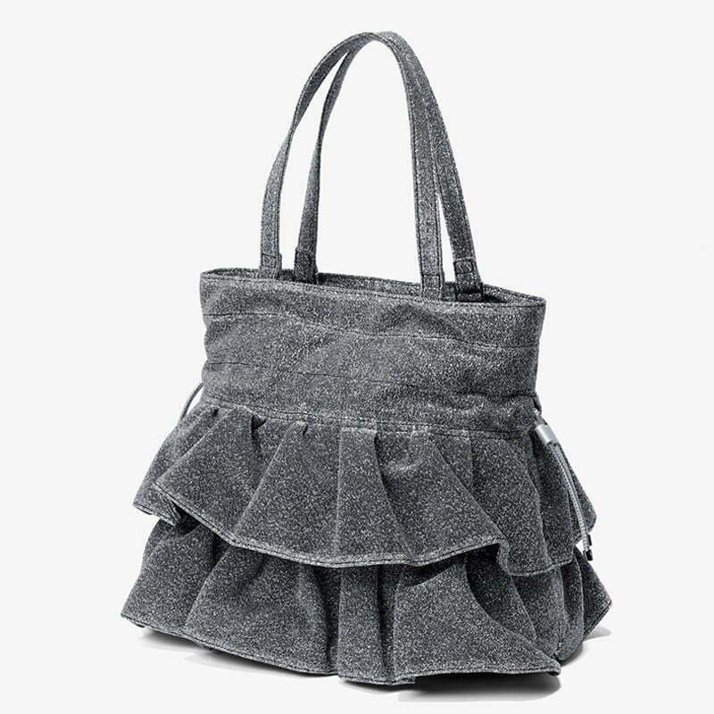 Copy brands design soft fabric material ladies drawstring hand bag