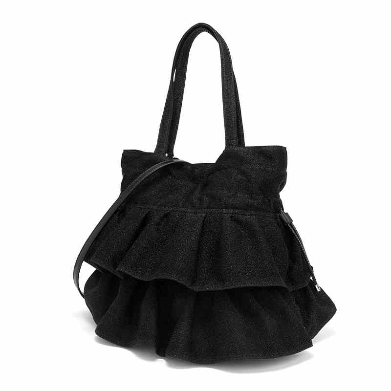UN18177 - Copy brands design soft fabric material ladies drawstring hand bag