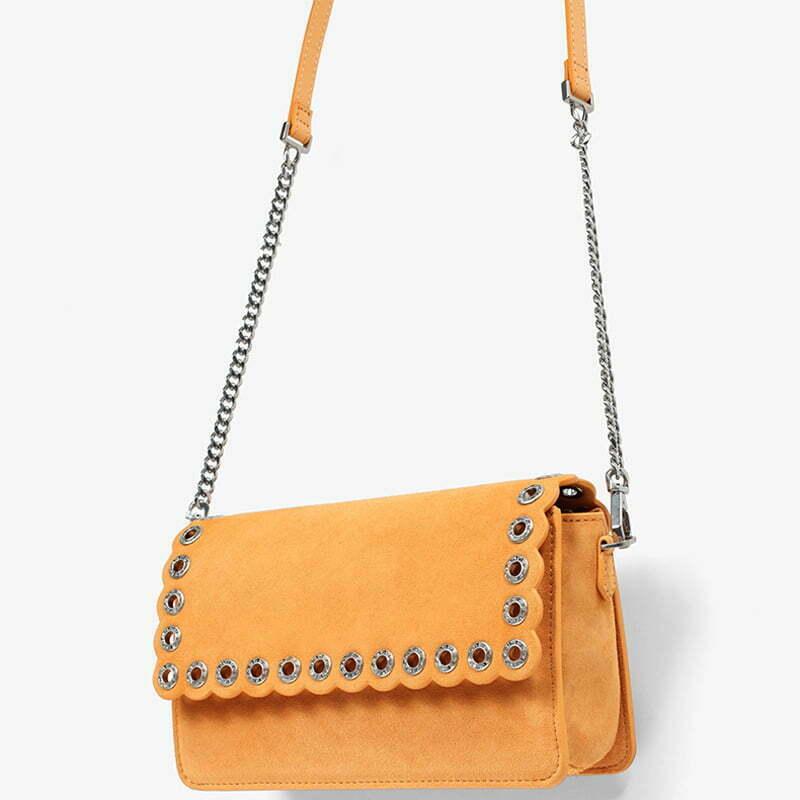 UN18180 YELLOW - Famous brand designer lovely colors eyelets shoulder bag for girls