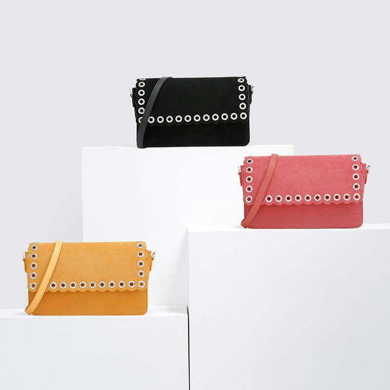 UN18180 - Famous brand designer lovely colors eyelets shoulder bag for girls