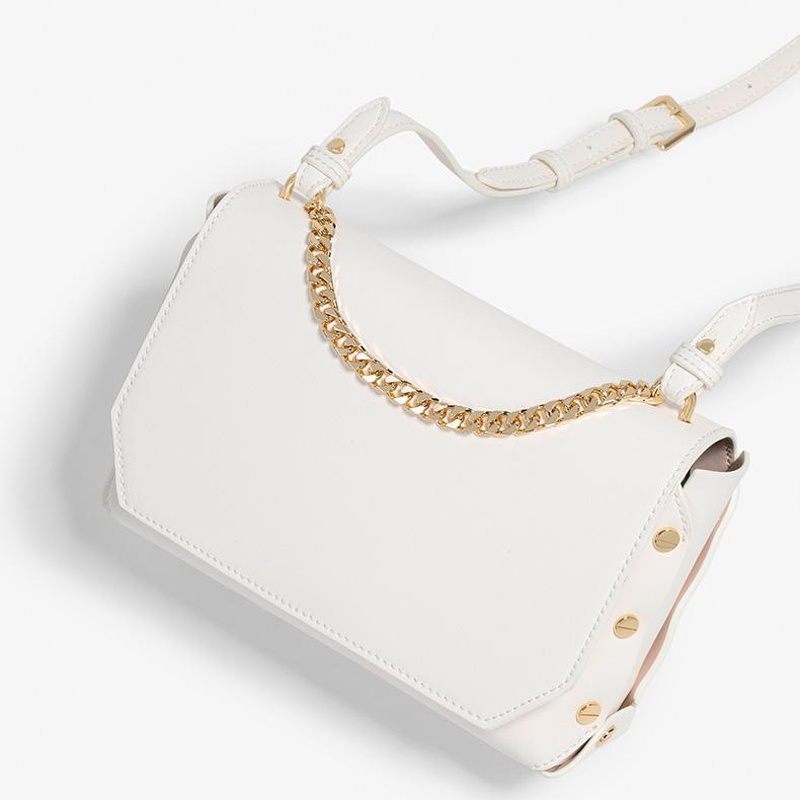 UN18181 WHITE - Small MOQ new material women crossbody bag with card slots