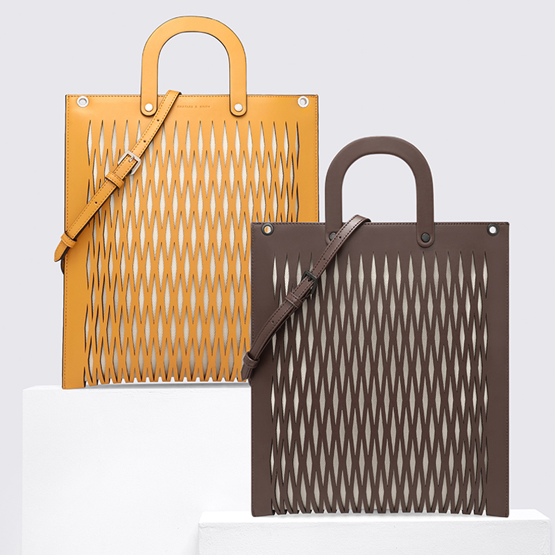 2019 new design fashion women tote bag with laser