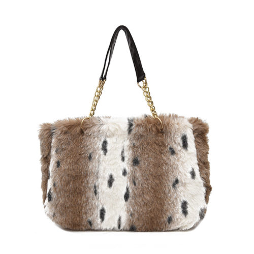 2019 winter design real fur leather big capacity ladies handbags
