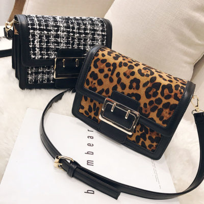 UN18219 - Hot selling 2019 winter design leopard women bags & backpacks