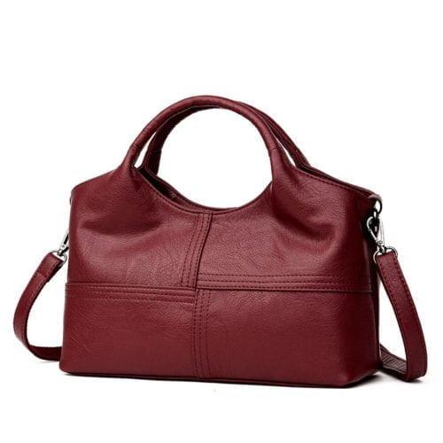 New coming style good quality human leather women organizer handbag