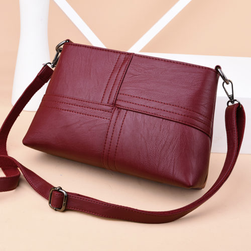 UN18017 500x500 - Simple design artificial leather two straps shoulder bags for women