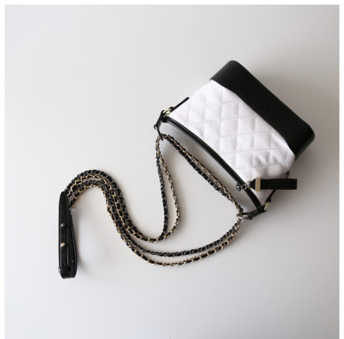 Best selling black and white leather fashion girls crossbody bag