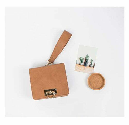 Famous European brand design brown PU leather single strap handbags