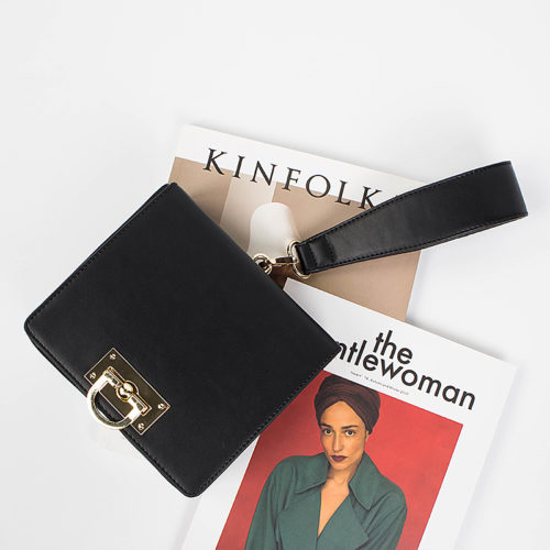 UN18021 black 500x500 - Famous European brand design brown PU leather single strap handbags