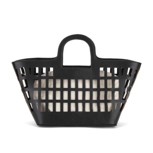European simple design bag in bag style women black leather bag