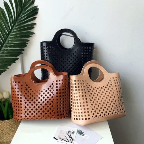 Small MOQ brand designer big capacity ladies shopping handbags