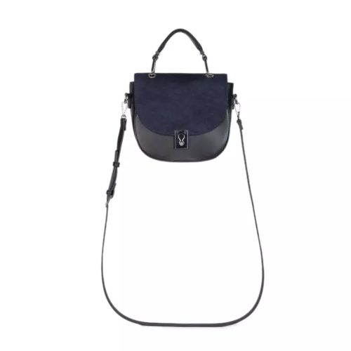 Best selling blue fake suede PU leather black crossbody bags for women