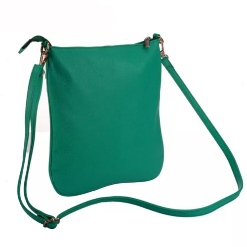 China manufacturer high quality green leather ladies crossbody bag