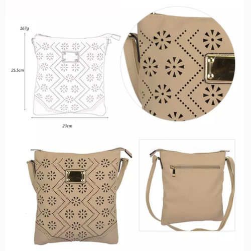 UN19010 1 500x500 - Hot selling girls beige over the shoulder bag with punching pattern