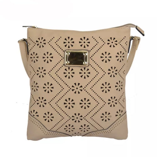 UN19010 500x500 - Hot selling girls beige over the shoulder bag with punching pattern