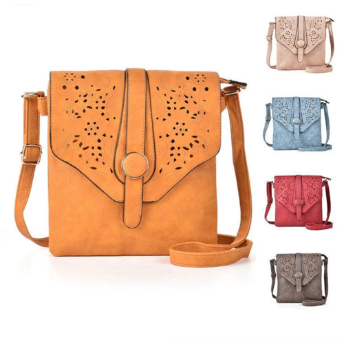 Good price soft PU leather brown cross body bag for girls