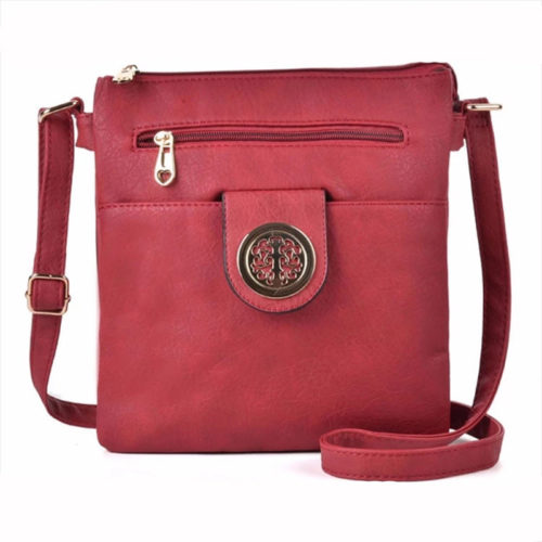 UN19013 500x500 - Sample free Guangzhou factory fake leather ladies red shoulder bags