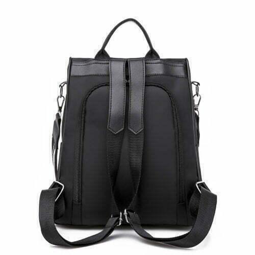 OEM services black color nylon backpack for girls