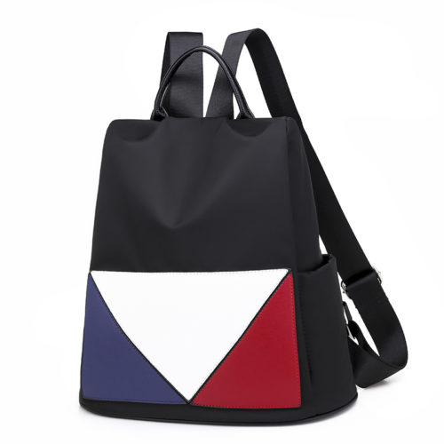 Nice mixed colors design nylon material black cheap backpacks