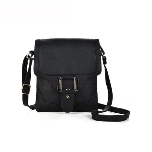 UN19019 500x500 - Simple design black PU leather bag shoulder bag