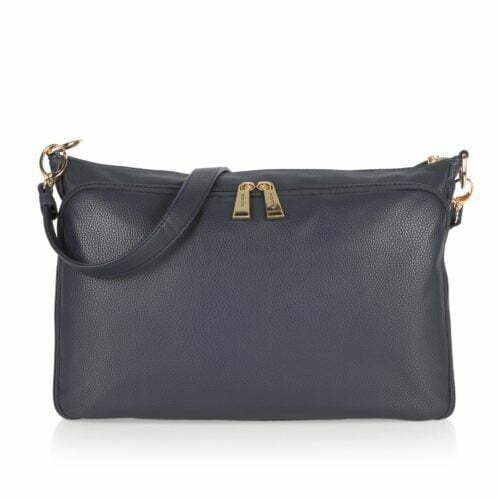 China factory faux suede leather ladies blue shoulder bag