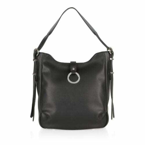 Custom made service black leather designer hobo handbags
