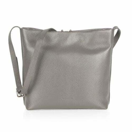 Popular design adjustable shoulder strap grey PU sling bag