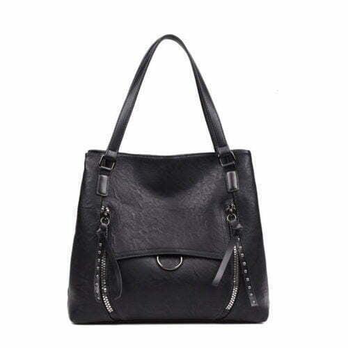 European big brand design red PU shopper tote handbags
