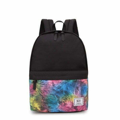 UN19041 500x500 - Light weight black canvas adult school backpacks