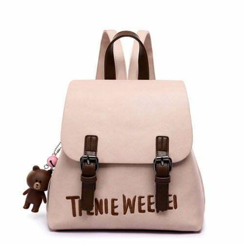 Nice design embroidery Logo girls pink backpack