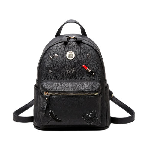Hot selling blue PU leather girls backpack purse