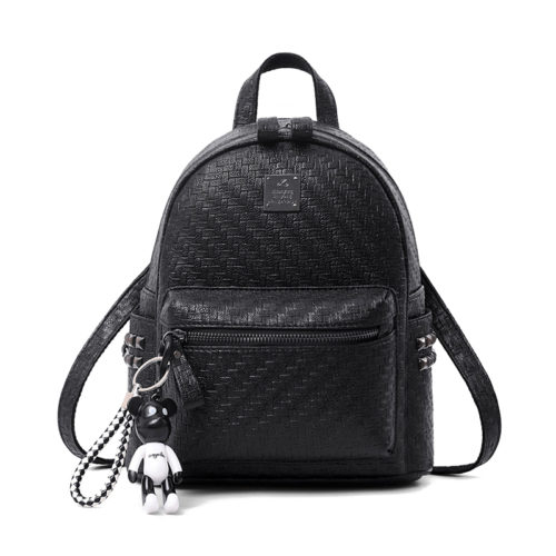 Newest design woven PU colorful ladies backpack sale