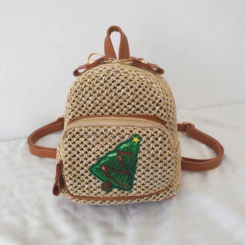 UN19060 tree 500x500 - Summer stylish PP straw ladies backpacks with pineapple