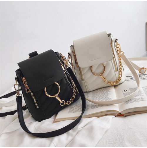 2019 trend design PU leather discount backpacks