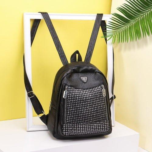 UN19070 500x500 - Free sample black fake leather adult women backpacks