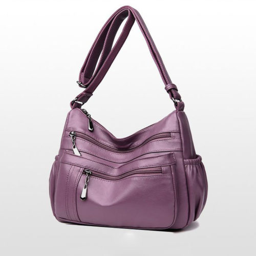 Classic style eco leather old ladies shoulder bag