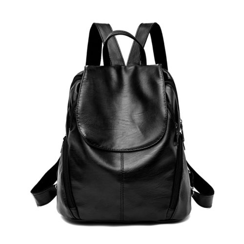 UN19074 500x500 - Hot selling in Columbia black PU leather women backpack