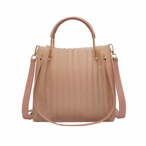 Fashion brand designer pink PVC leather zara handbags