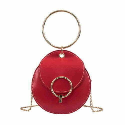 2019 Korean cute design red PU chain strap shoulder bag