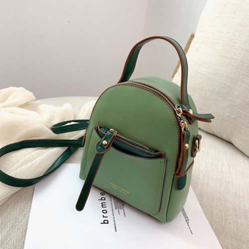 Spring style contrast colors eco leather ladies mini bag