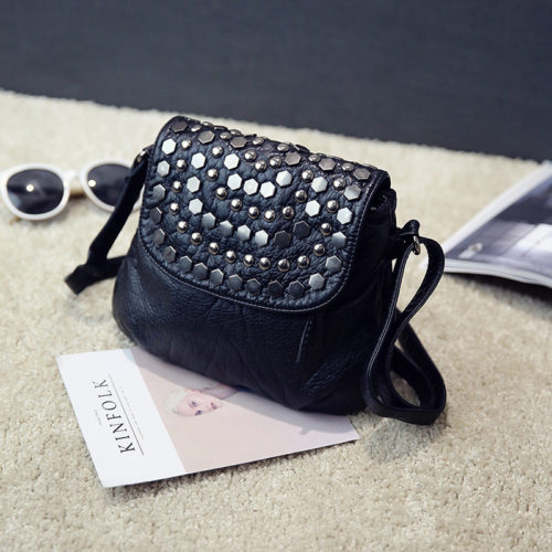 UN19093 500x500 - Best selling washed PU leather girls small crossbody bags