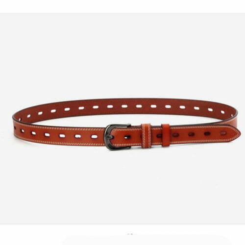 Fancy design small MOQ ladies leather belts