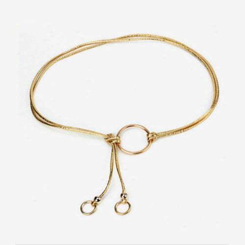 Simple design women accessories gold belt