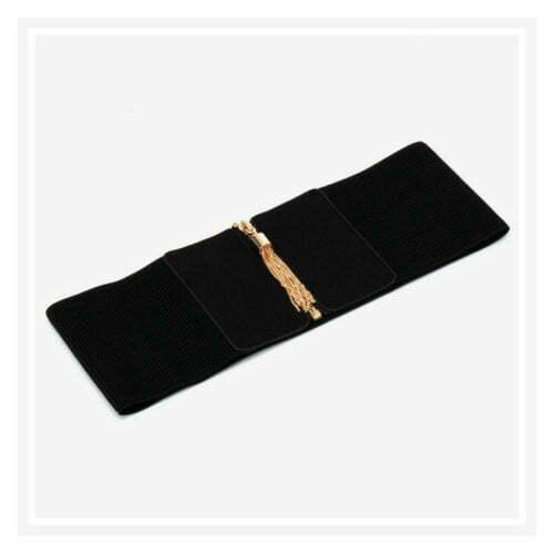 Free sample big size elastic luxury belts with tassle