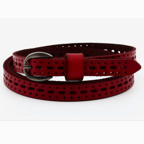 Guangzhou factory OEM cow leather red belt for girls