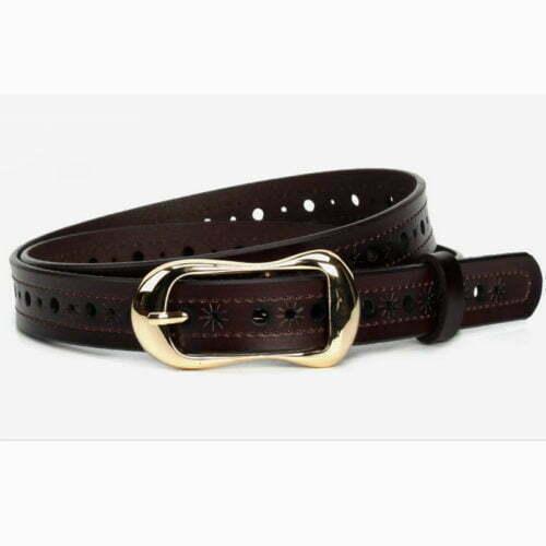 Free sample real leather girl stylish belt