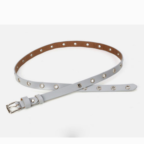 Trendy design genuine leather eyelets women belts