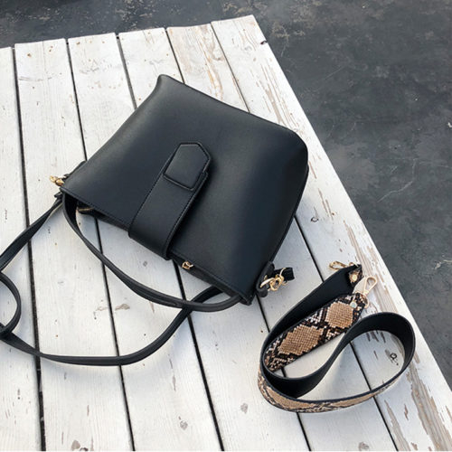 Big brand designer brown leather women bucket bags