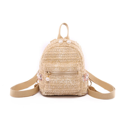 UN19115 500x500 - Wholesale stores to sell eco beige straw student backpack