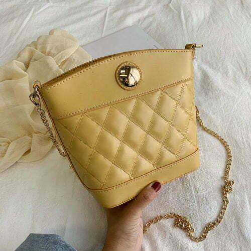 Custom made brand PU leather crossbody chain purse